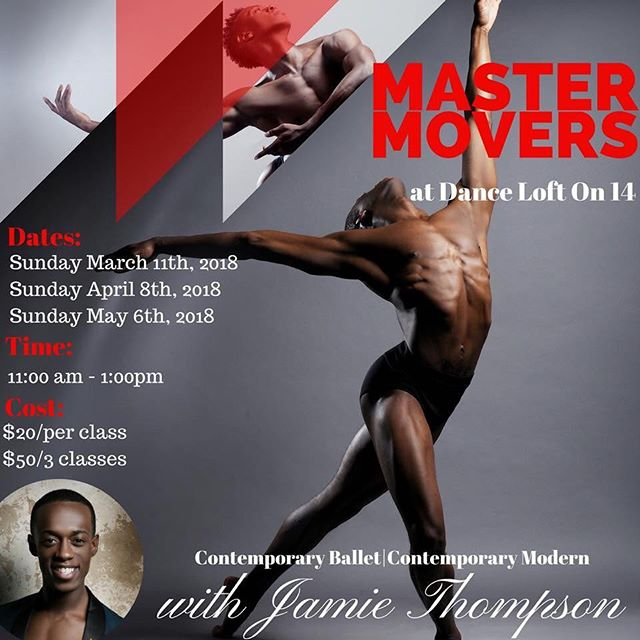 MASTERMOVERS Series facilitates an open environment where experienced dancers can build, expand and challenge their technical prowess while liberating their bodies to new depths of artistry. The series focuses on, but not limited to, Contemporary Ballet, Contemporary Modern, and Repertoire. Register: https://danceloft14.tulasoftware.com/student/event_series/49454