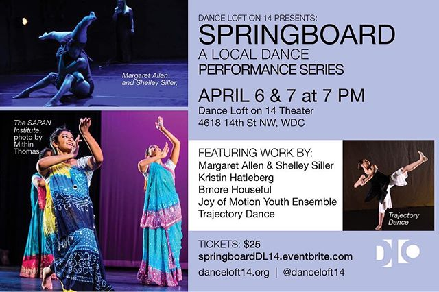 Tickets are on sale for this round of our Springboard series! We have a great group of local artists so come out and support DC dance! #springboarddc2018