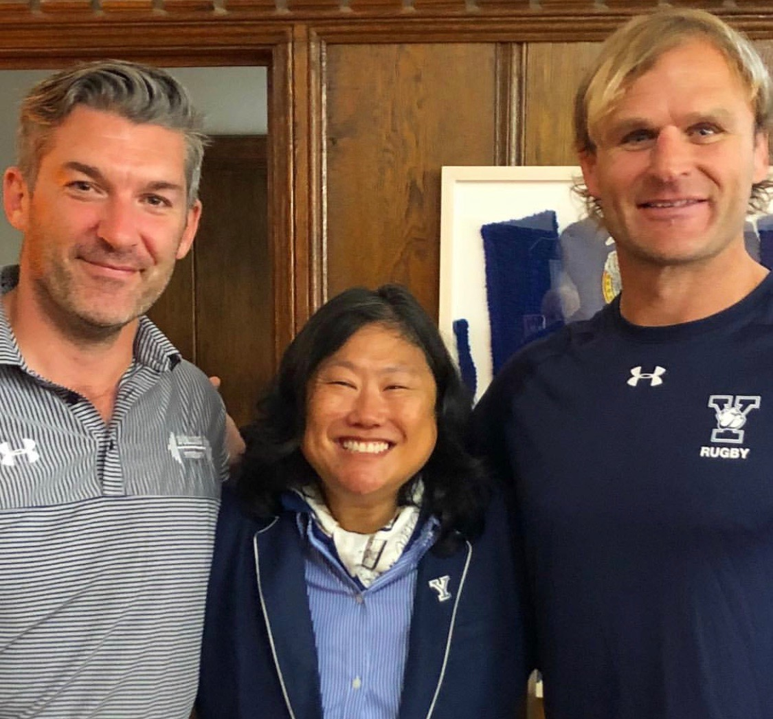 WITH YALE ATHLETIC DIRECTOR, VICKY CHUN