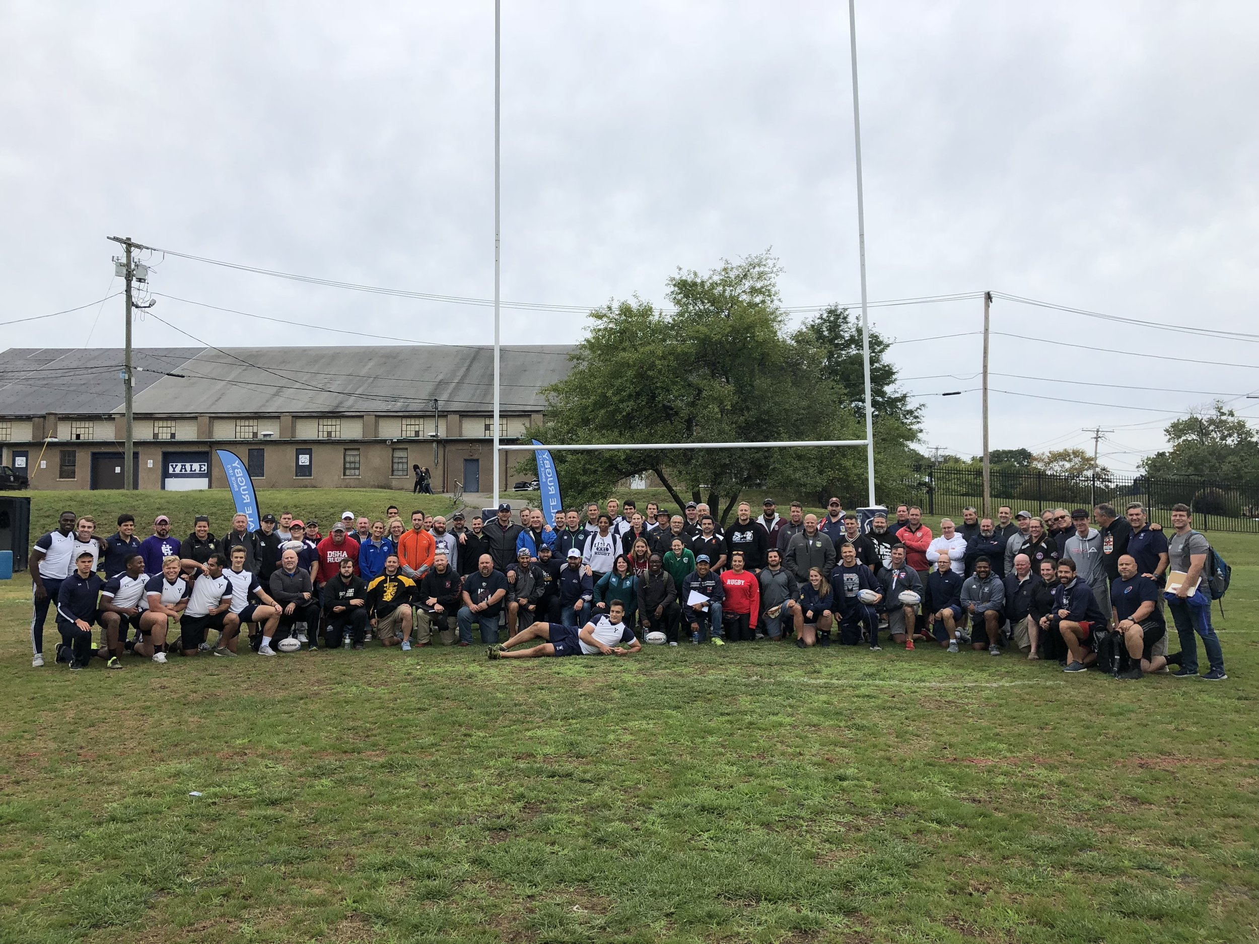 The attendees after the afternoon field session
