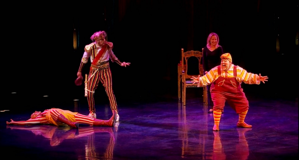 Montreal, Canada-  Cirque du Soleil's Kooza with partners Christian Fitzharris and Gordon White.