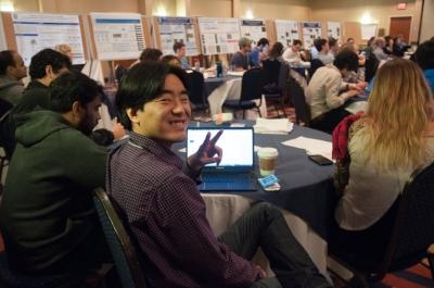 Sehwon Koh, a postdoc in Eroglu Lab, wishes you peace!