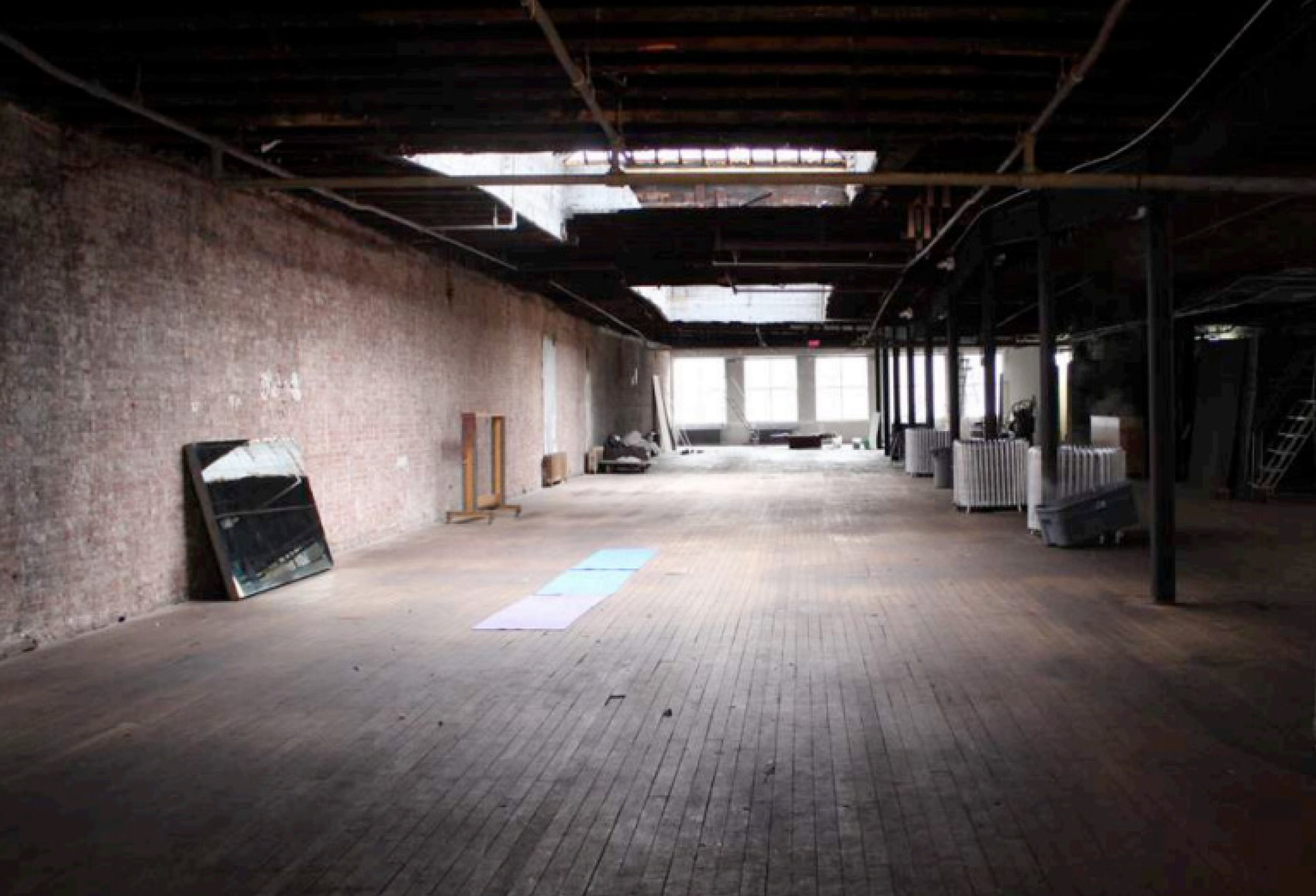 The empty loft space in SoHo, NYC for the presentation.