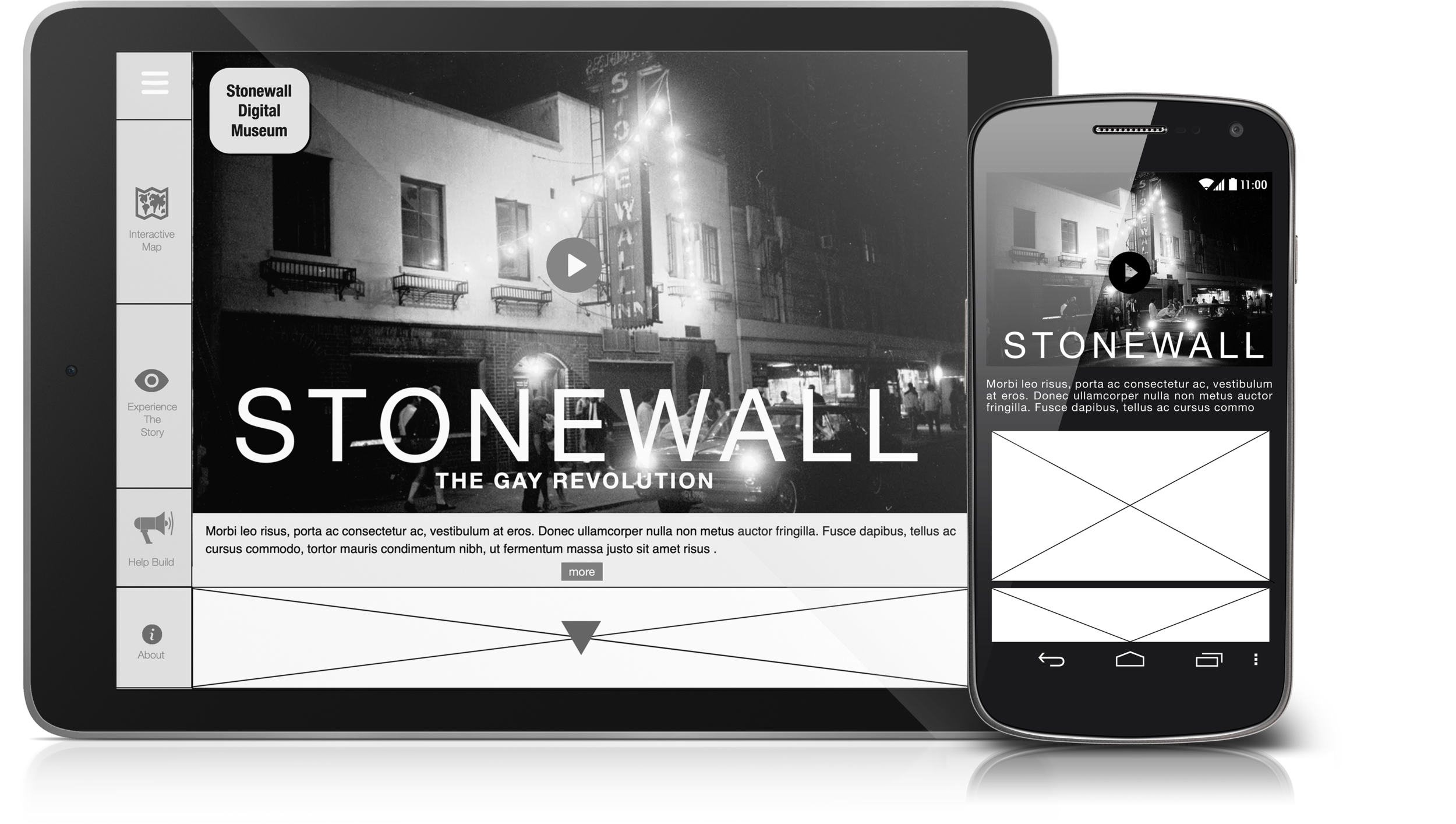 CMS TABLET & MOBILE ARCHIVAL & EDITIORIAL DESIGN