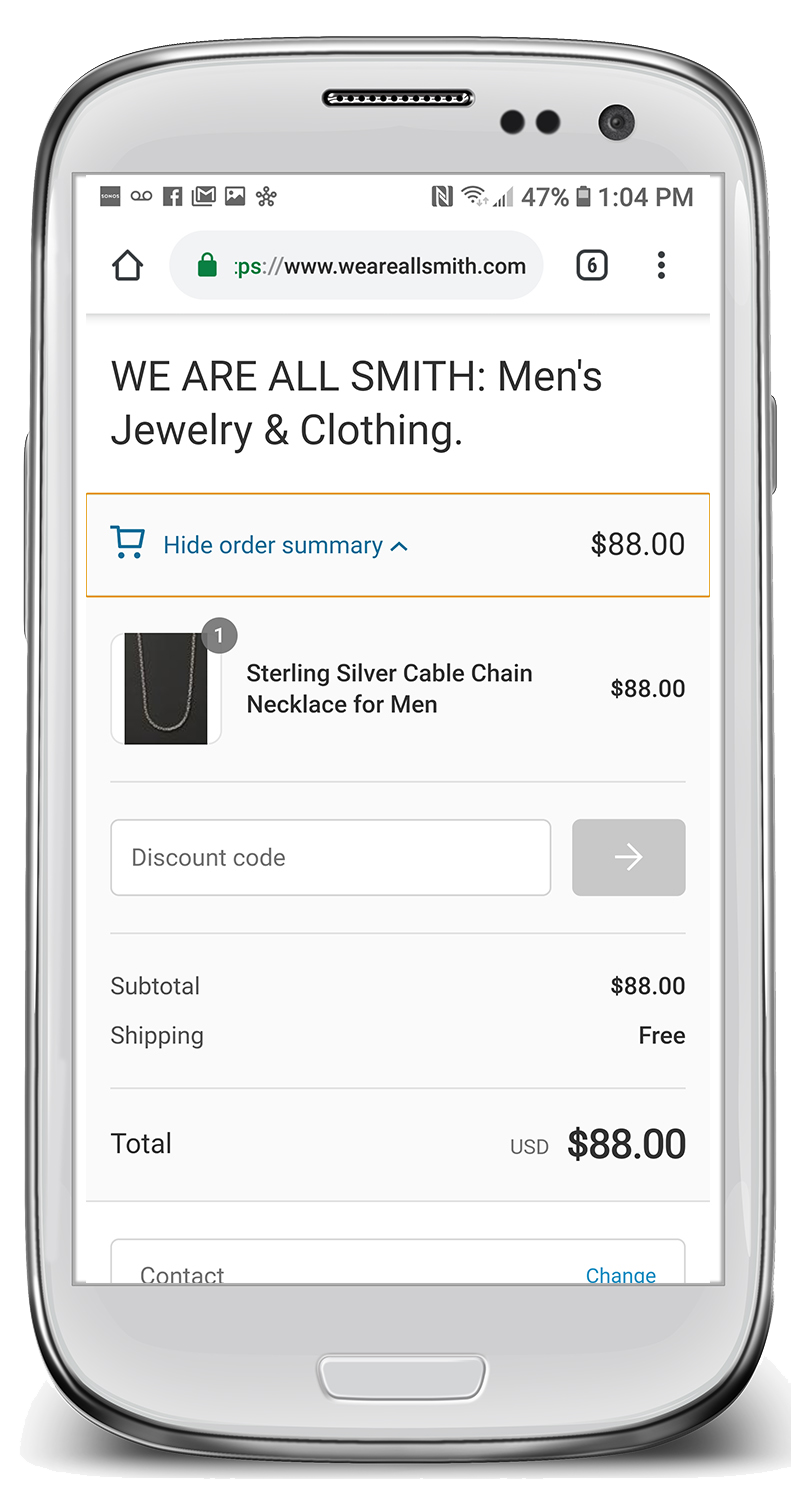 Existing Checkout/Cart Page
