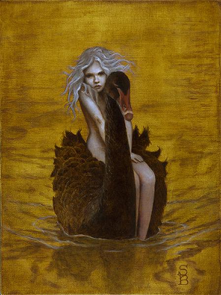 Sullivan-Beeman_Deirdre_Swan Girl_2014_oil on tempura_16x12