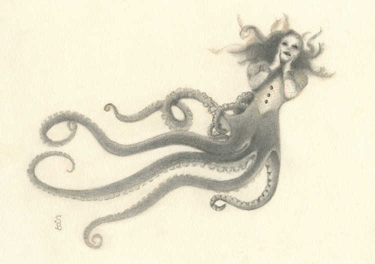 Octopus Girl, drawing