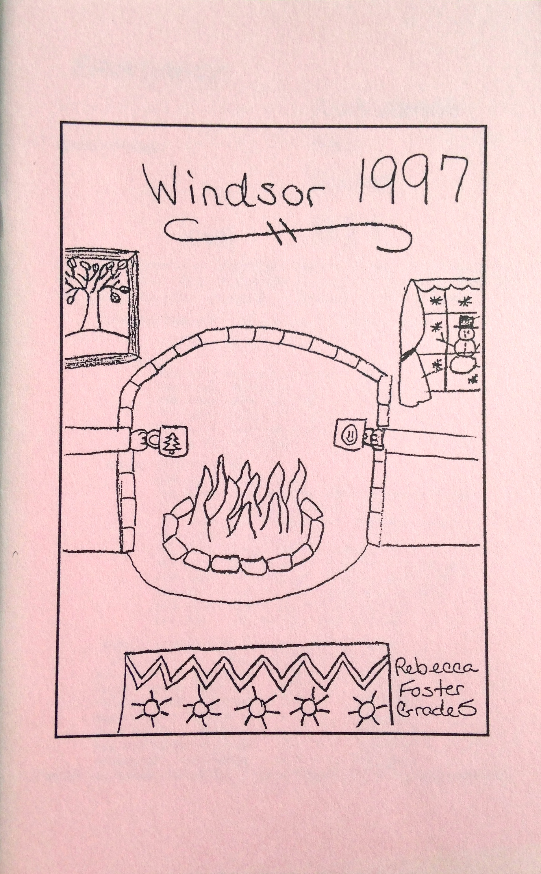 Cover art by Rebecca Foster (Grade 5)