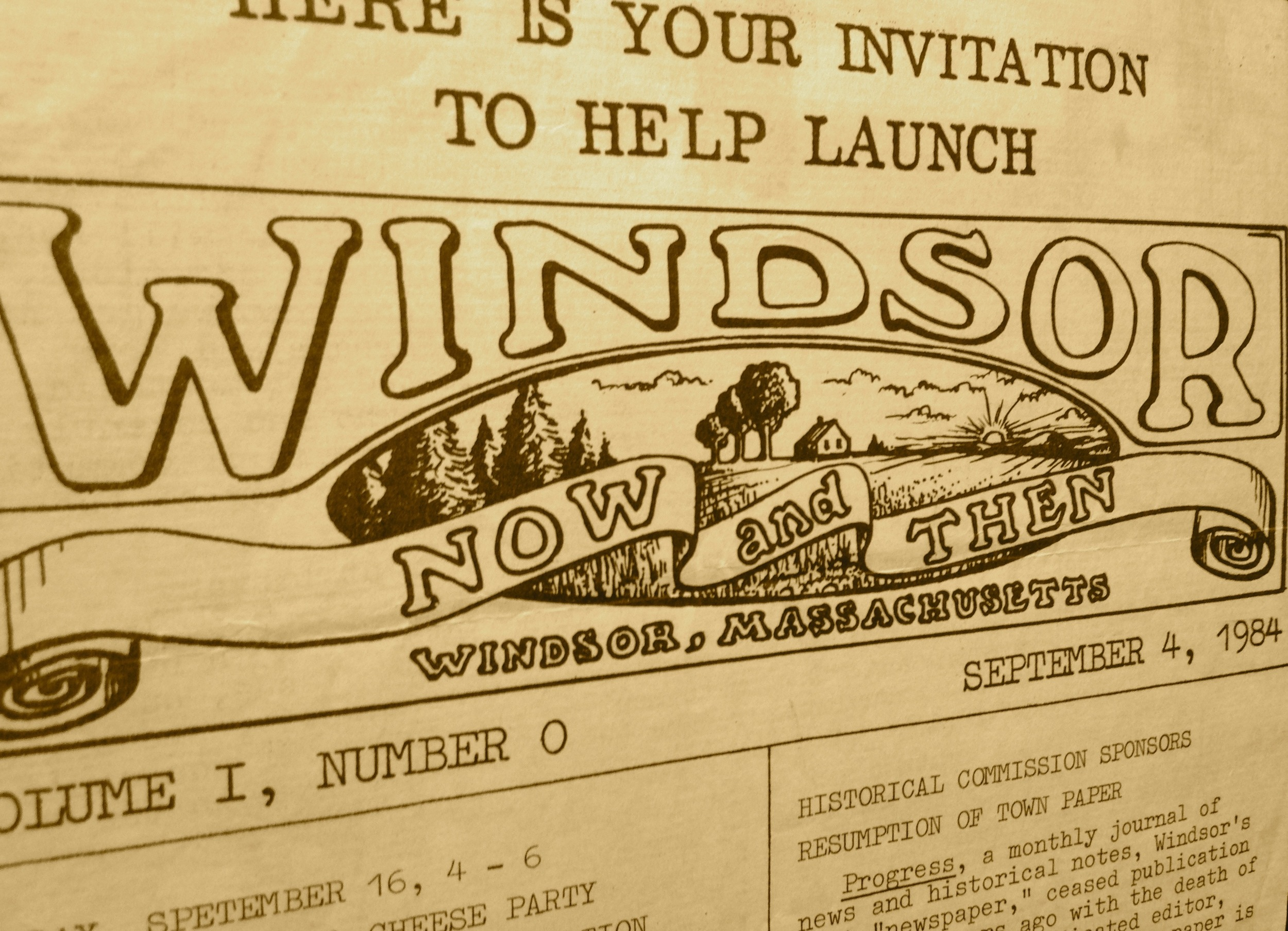 The first issue of Windsor Now & Then was published in September, 1984