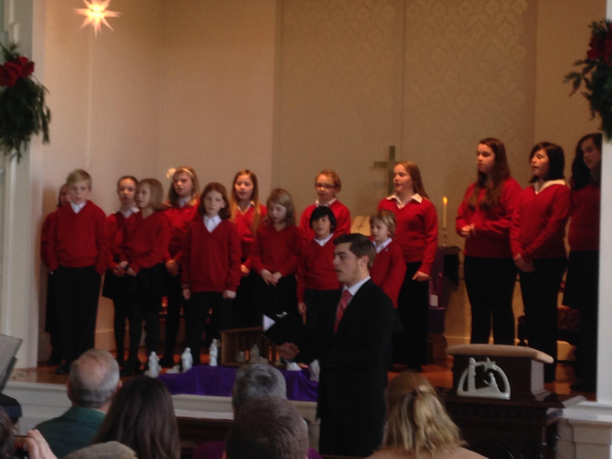 Blafield Children's Chorus at WCC Dec 2015