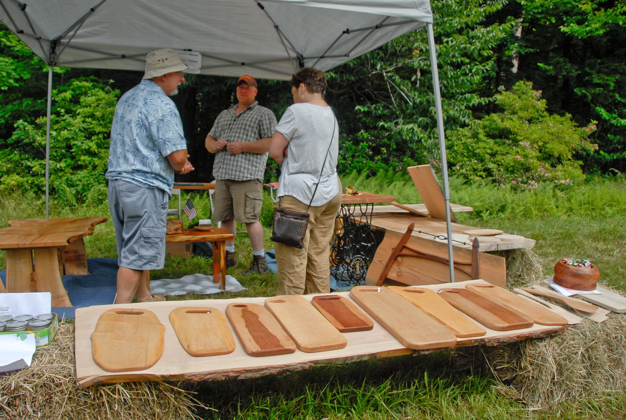 Scott Brockway (in middle) and his Berkshire Wood Products