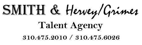 So thrilled to sign - with Julie Smith at Smith & Hervey/Grimes Talent Agency.  This long standing Theatrical and Commercial agency is a boutique SAG franchise agency that is for and full of