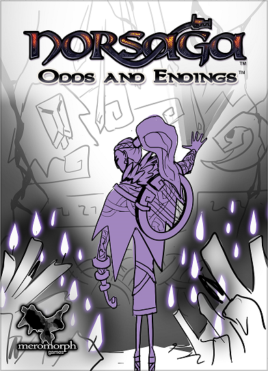 Draft of uncolored final boxart.