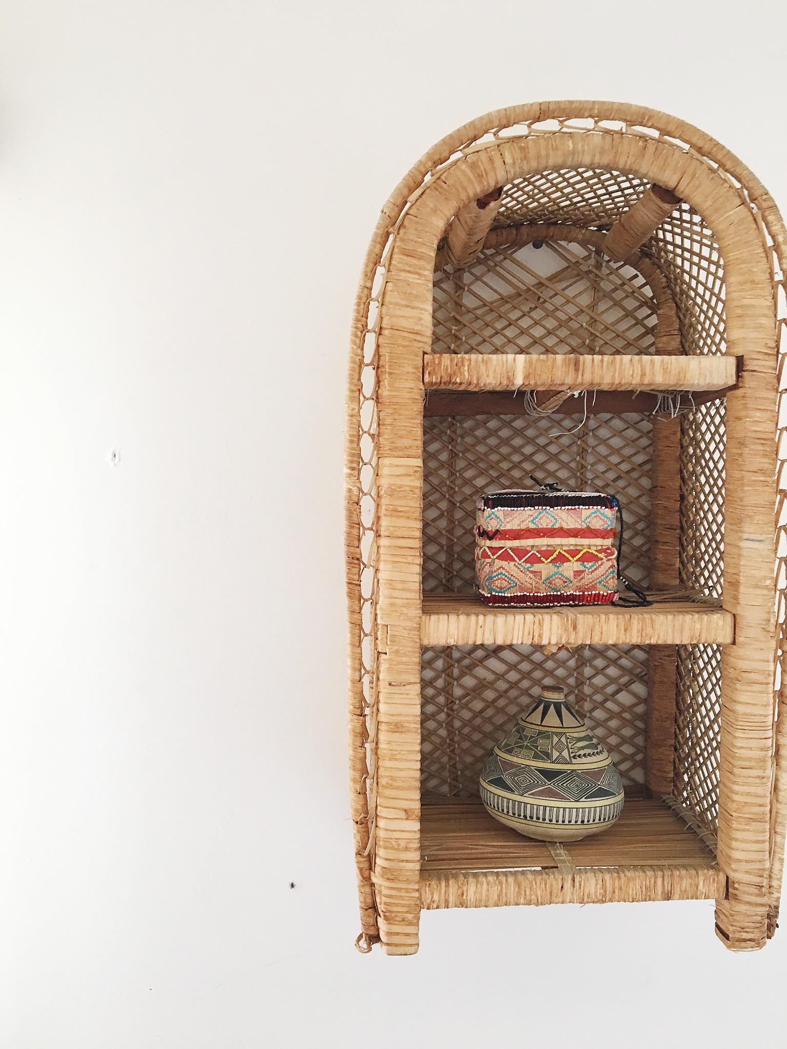California Boho Modern Style Baskets on walls