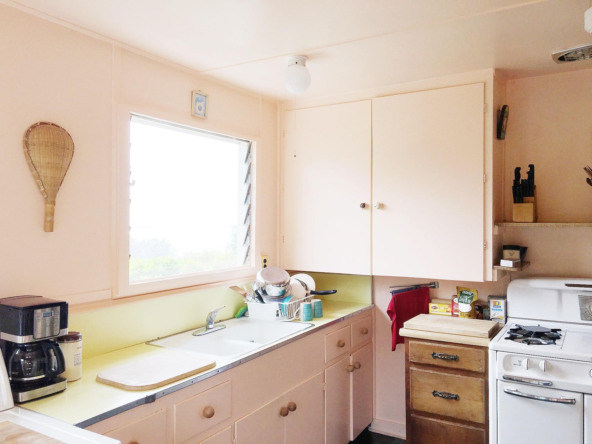 Santa Barbara California Airbnb Boho Pink Kitchen
