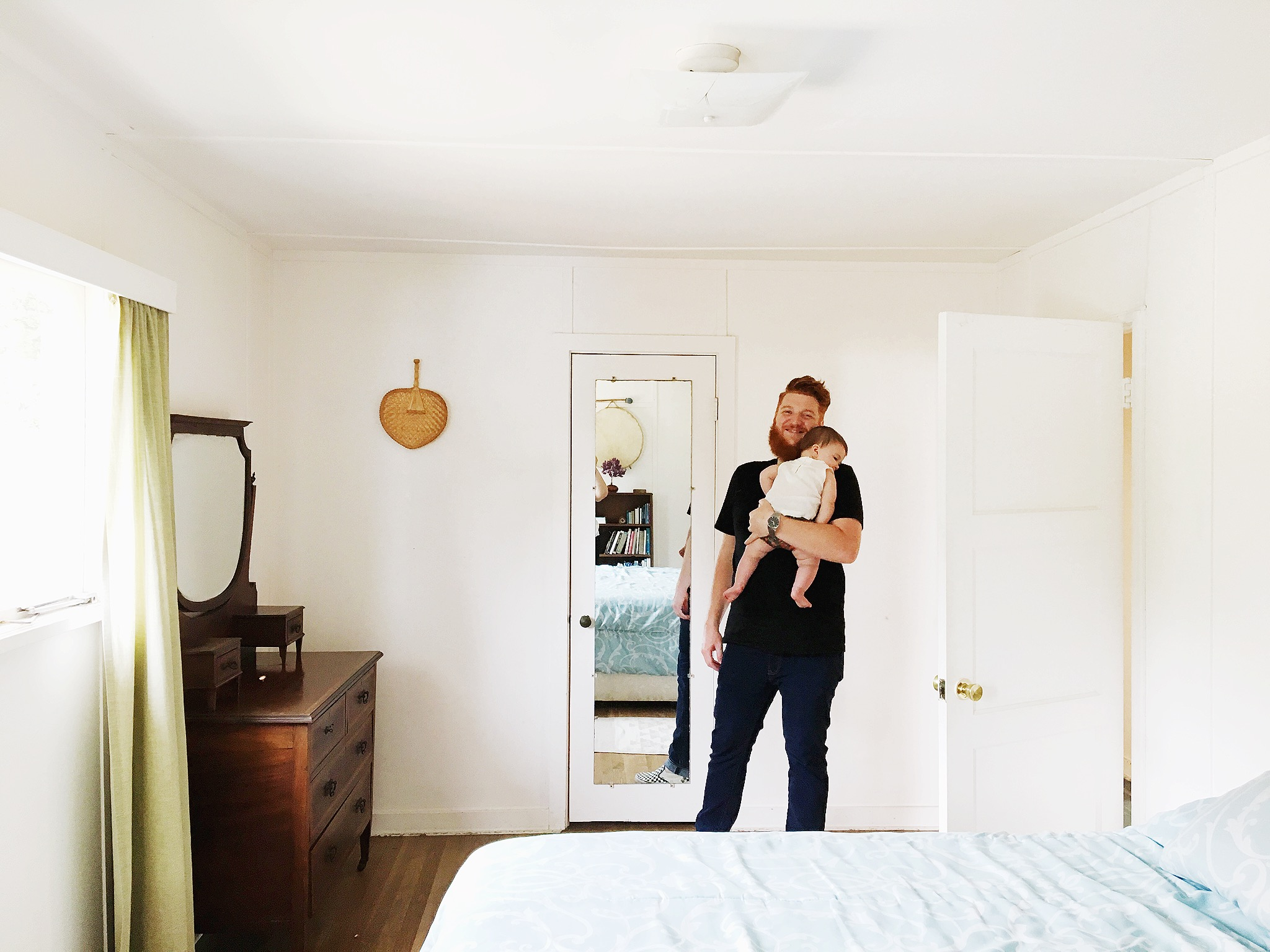 Guest room–we stuck the baby's Pack 'N' Play in here.