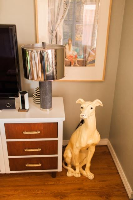 In sentimental: an antique statue of a greyhound that has been in my family for a good while. It was given to us when we had to say goodbye to our own yellow dog. //Photo Credit:Michelle Leach of  Magnolia Adams Photography //