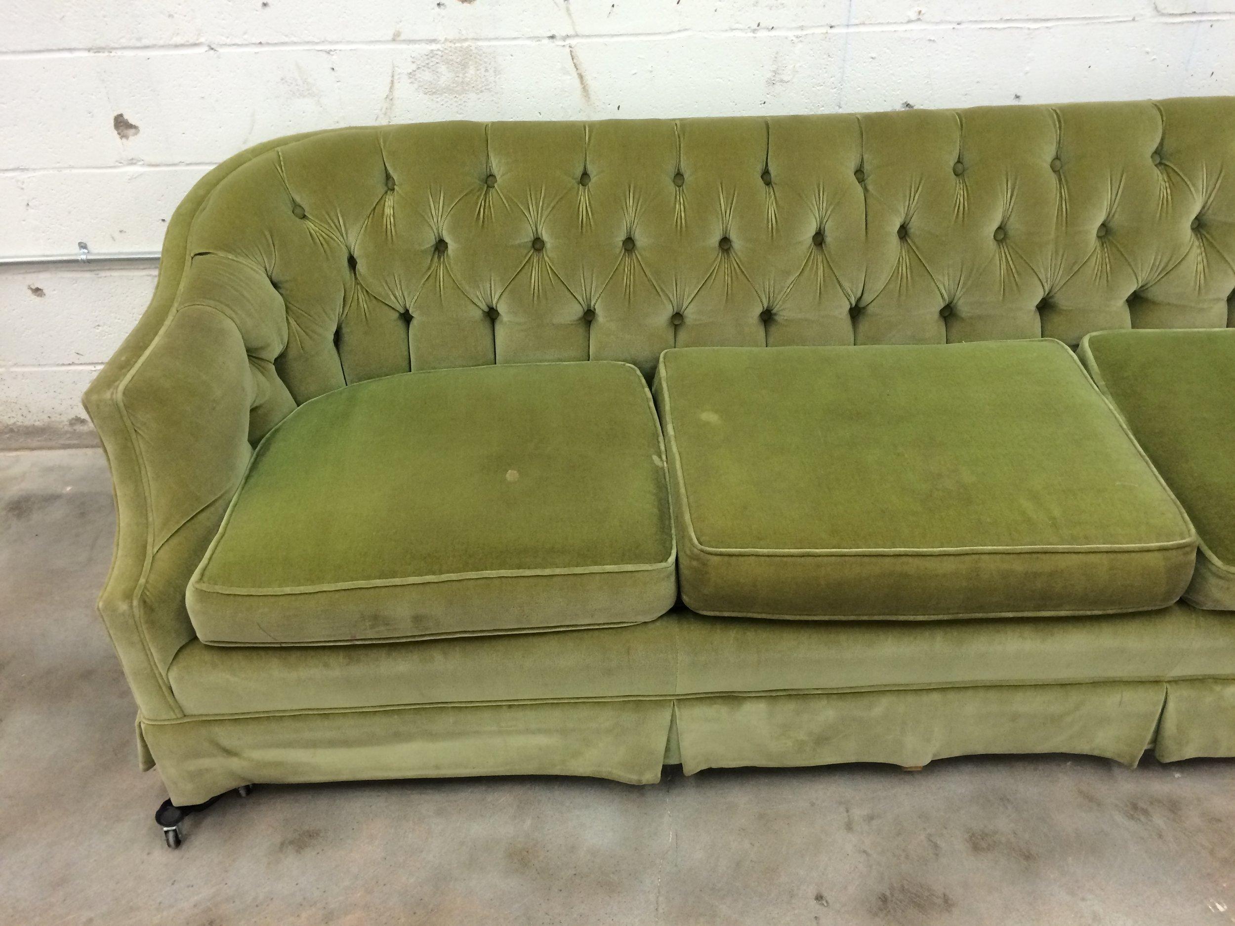 Before After Vintage Tufted Sofa