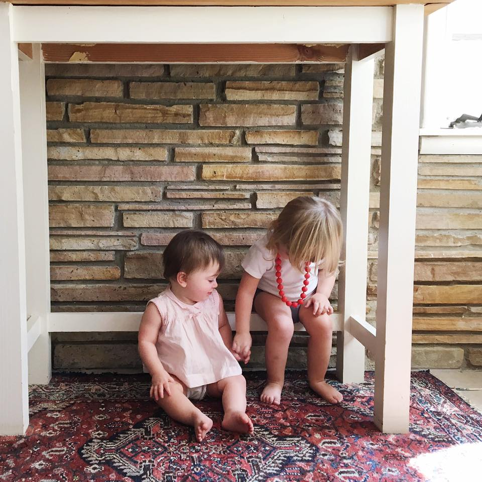 The mudroom is also a nice place for budding friendships.