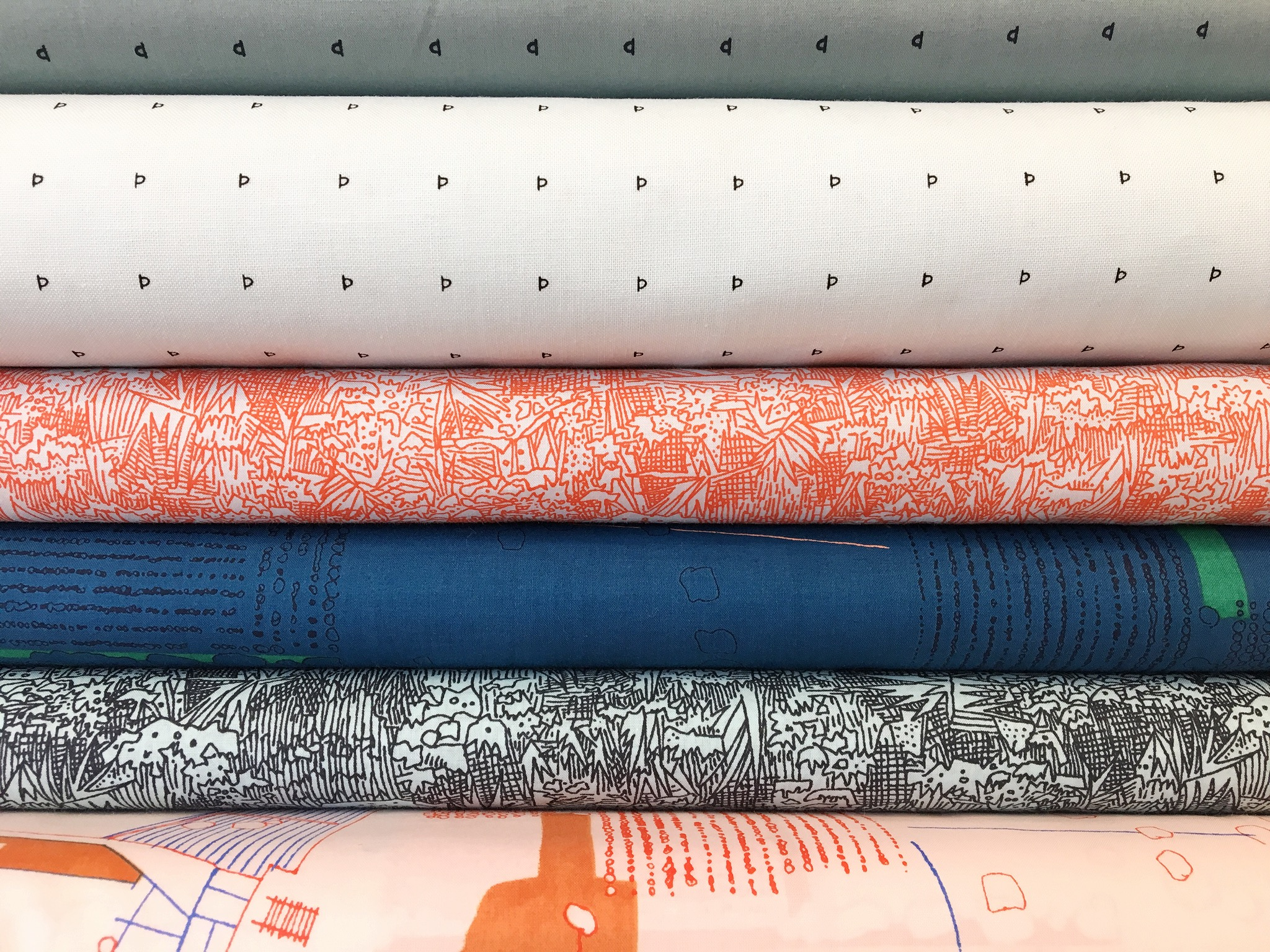 Organic Cotton fabrics at Owl and Drum