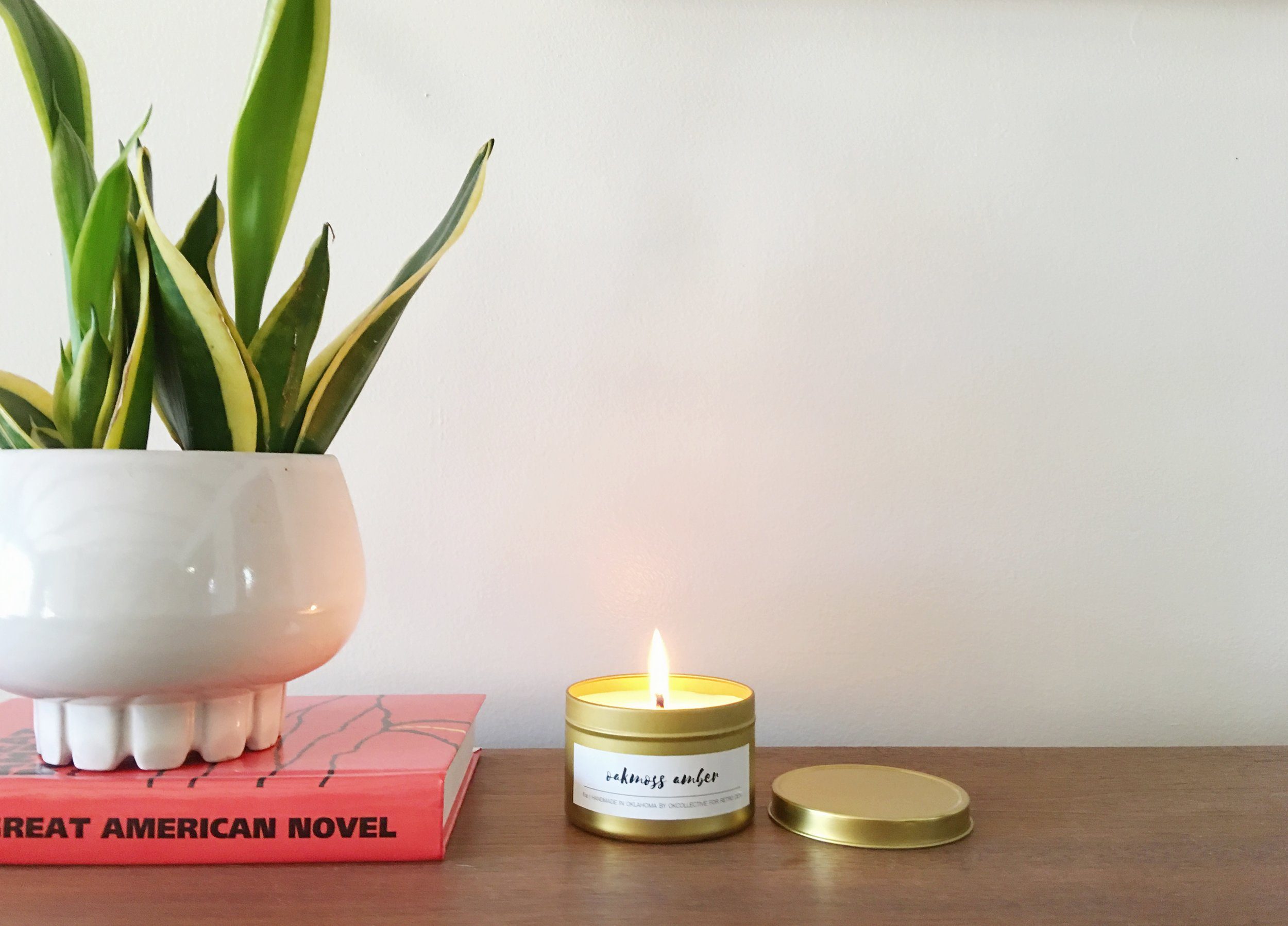 fresh candle for spring