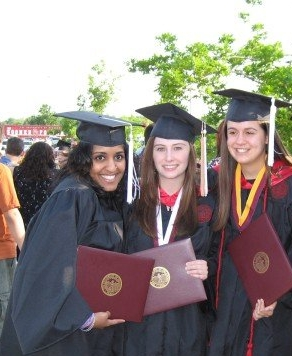 This is us graduating from the University of Oklahoma in 2007.