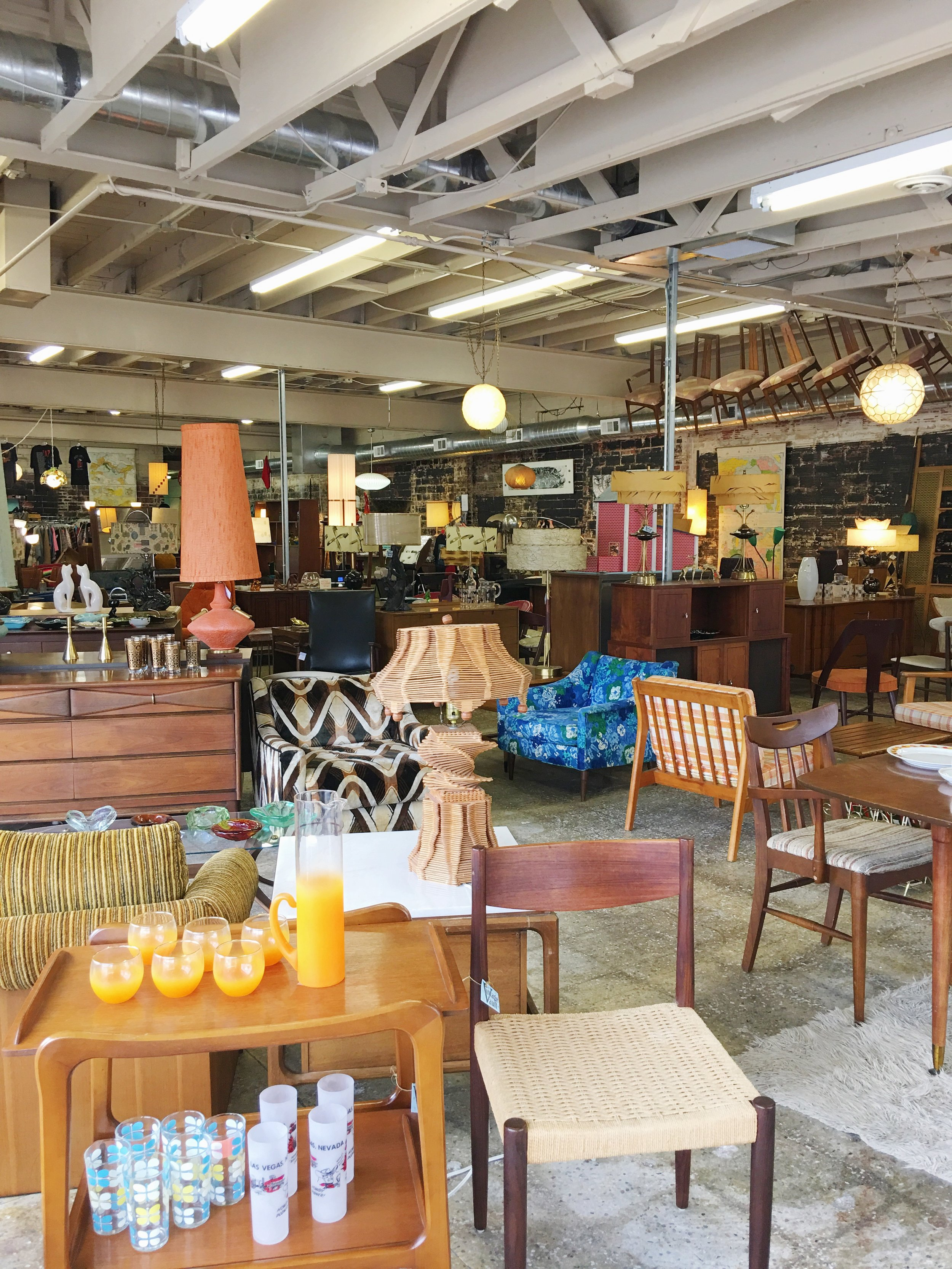 Vintage Vault carries beautiful mid-century modern furniture, decor and clothing. They are right up the street from us!