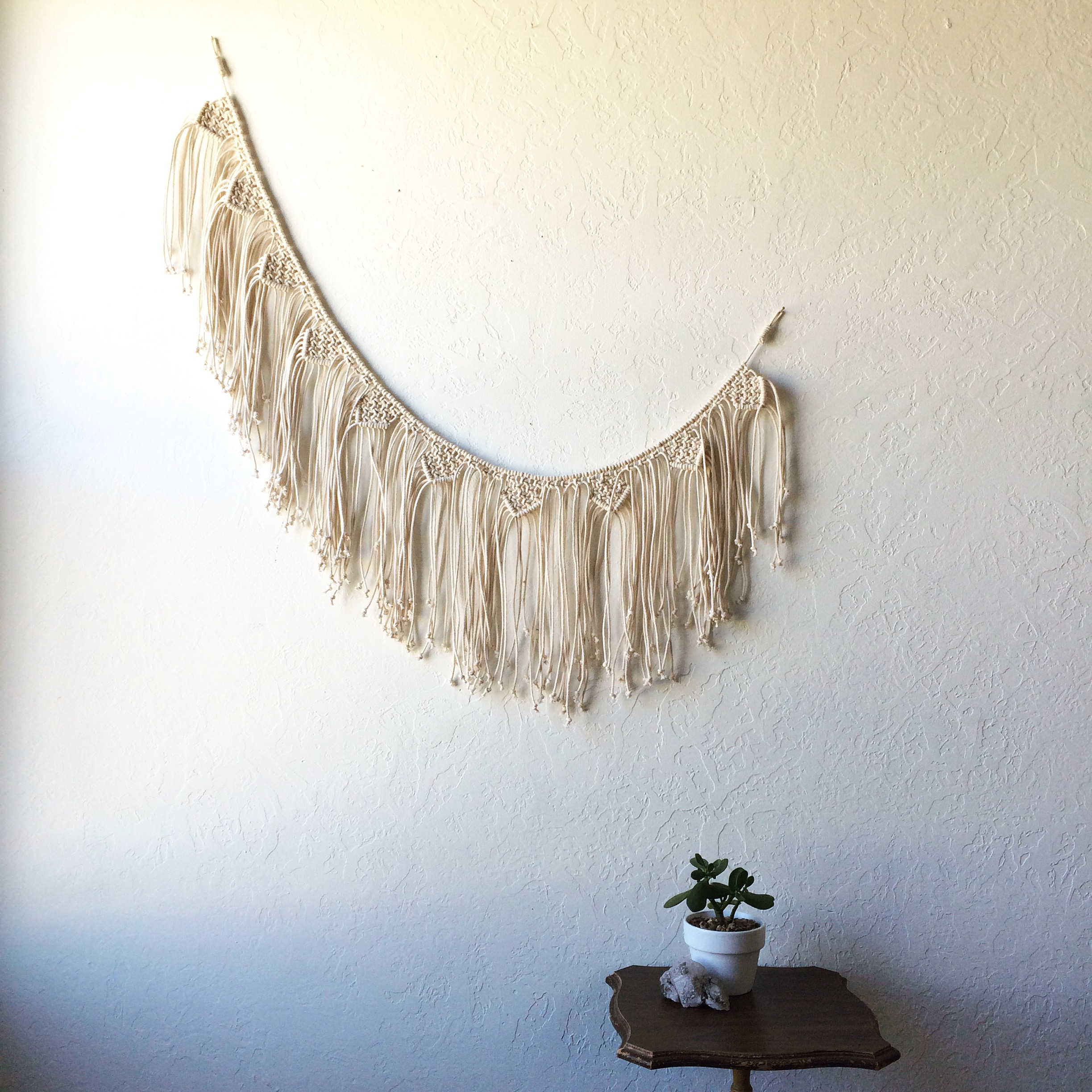 Tasha Ball  makes the most baller macrame bunting and we're all going to learn how next week!