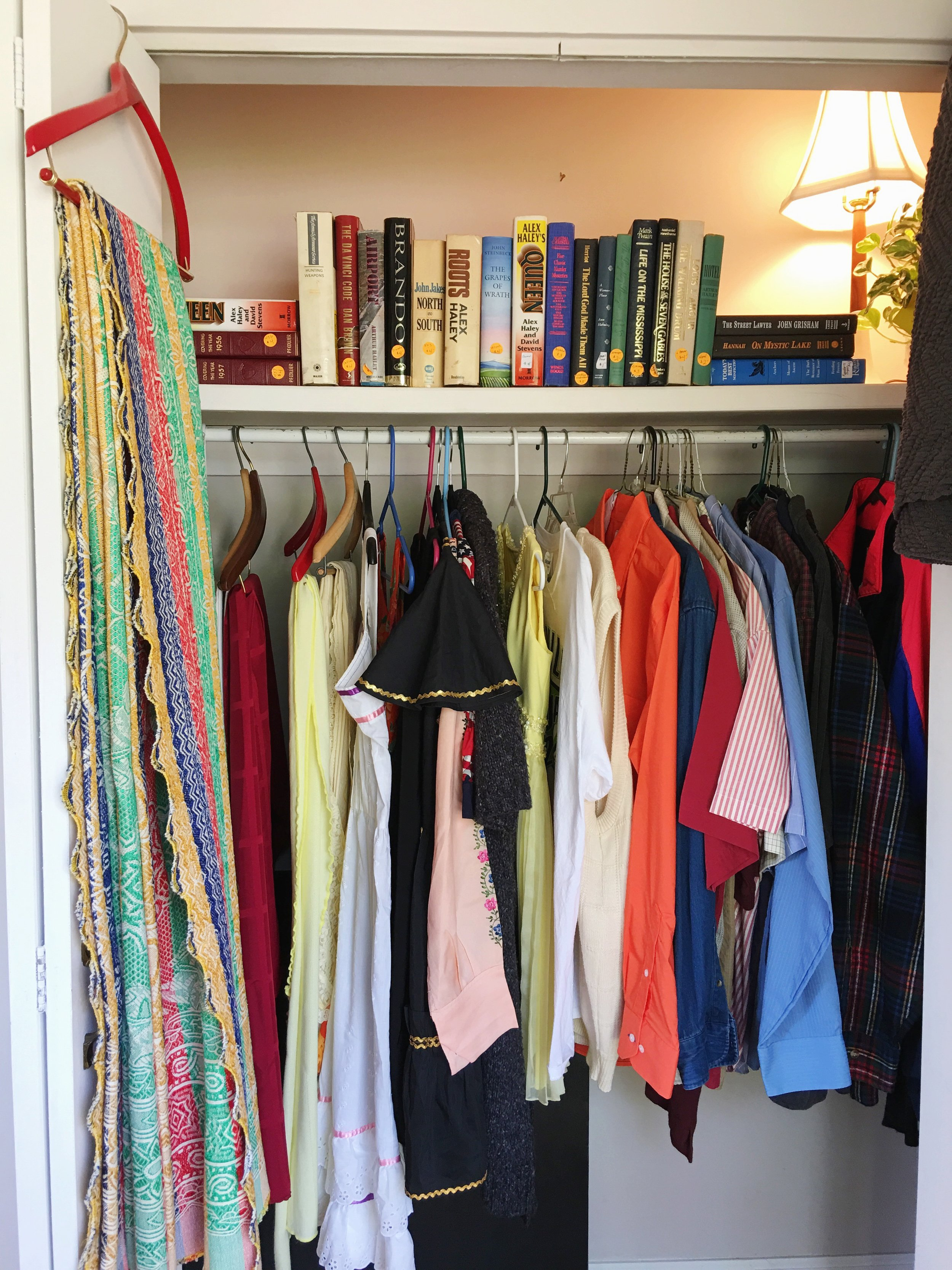 You literally get to shop someone's closet at estate sales!