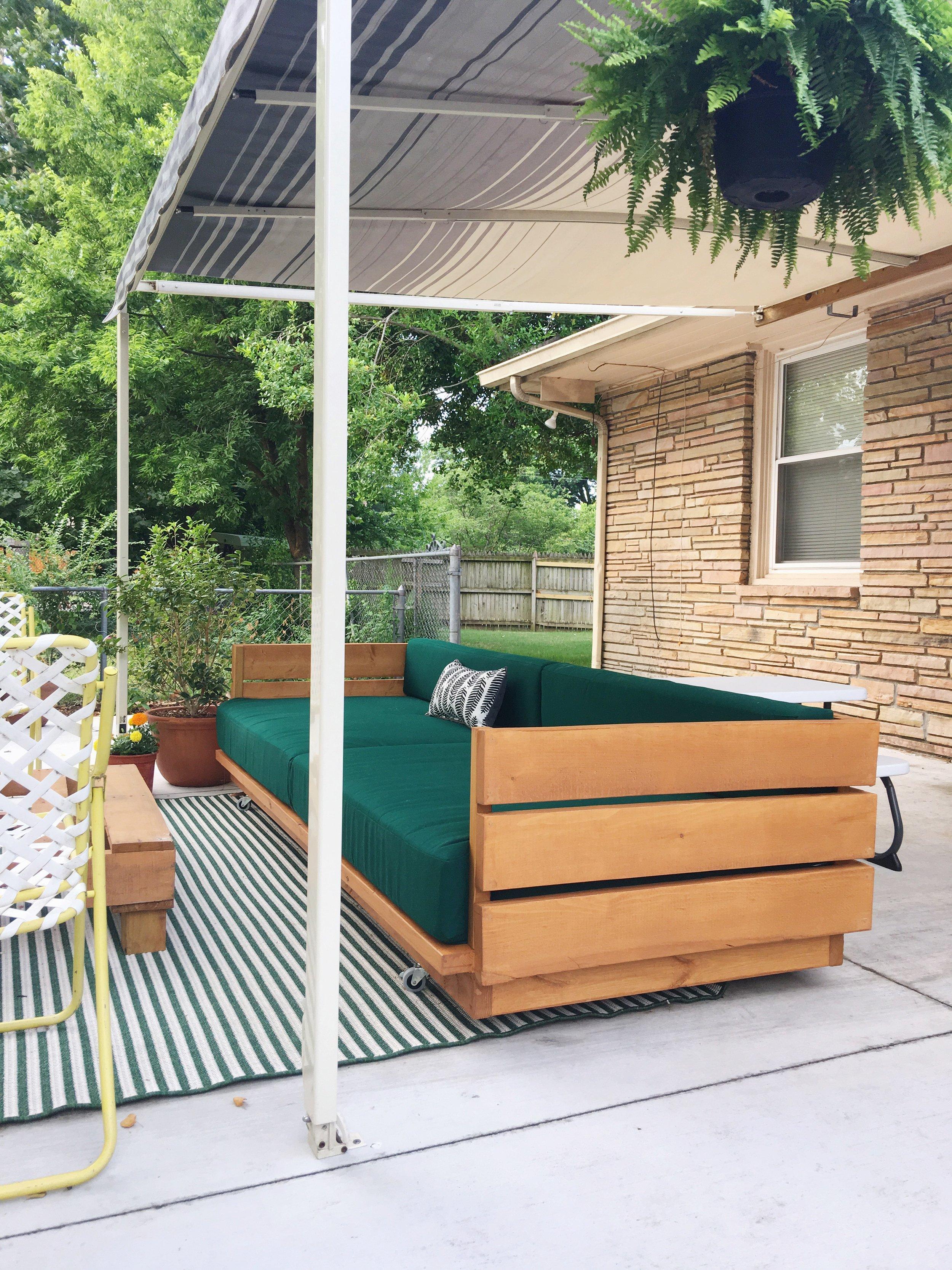 modern diy wooden platform outdoor sofa