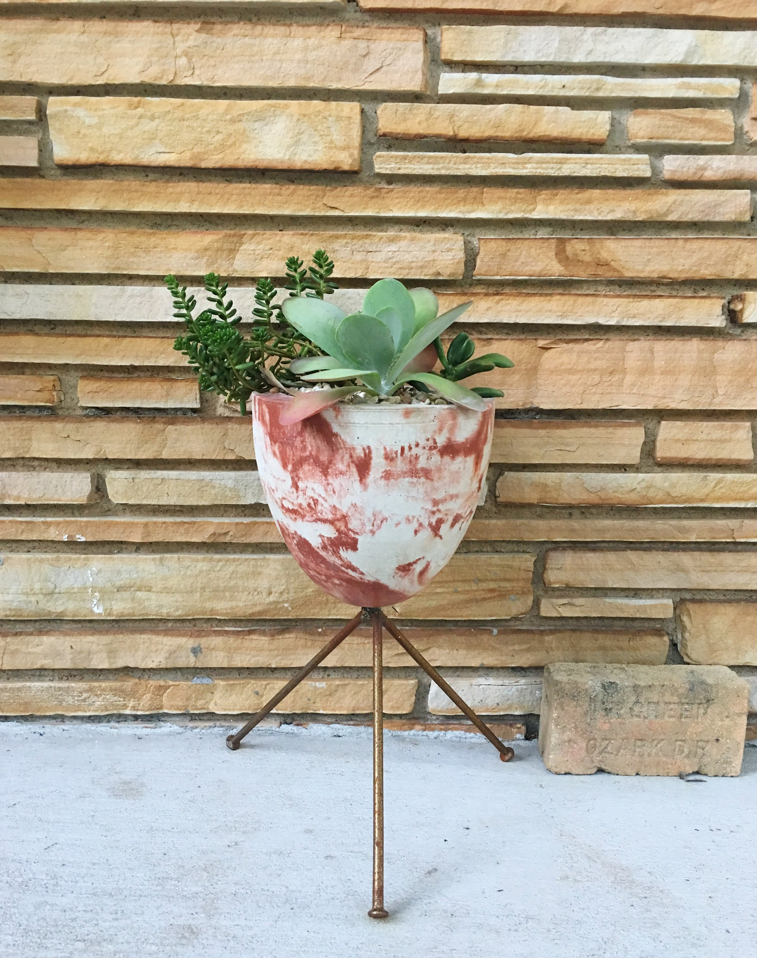 Pretty much in love with this marbled-style bullet planter by local maker Atomic Studios.
