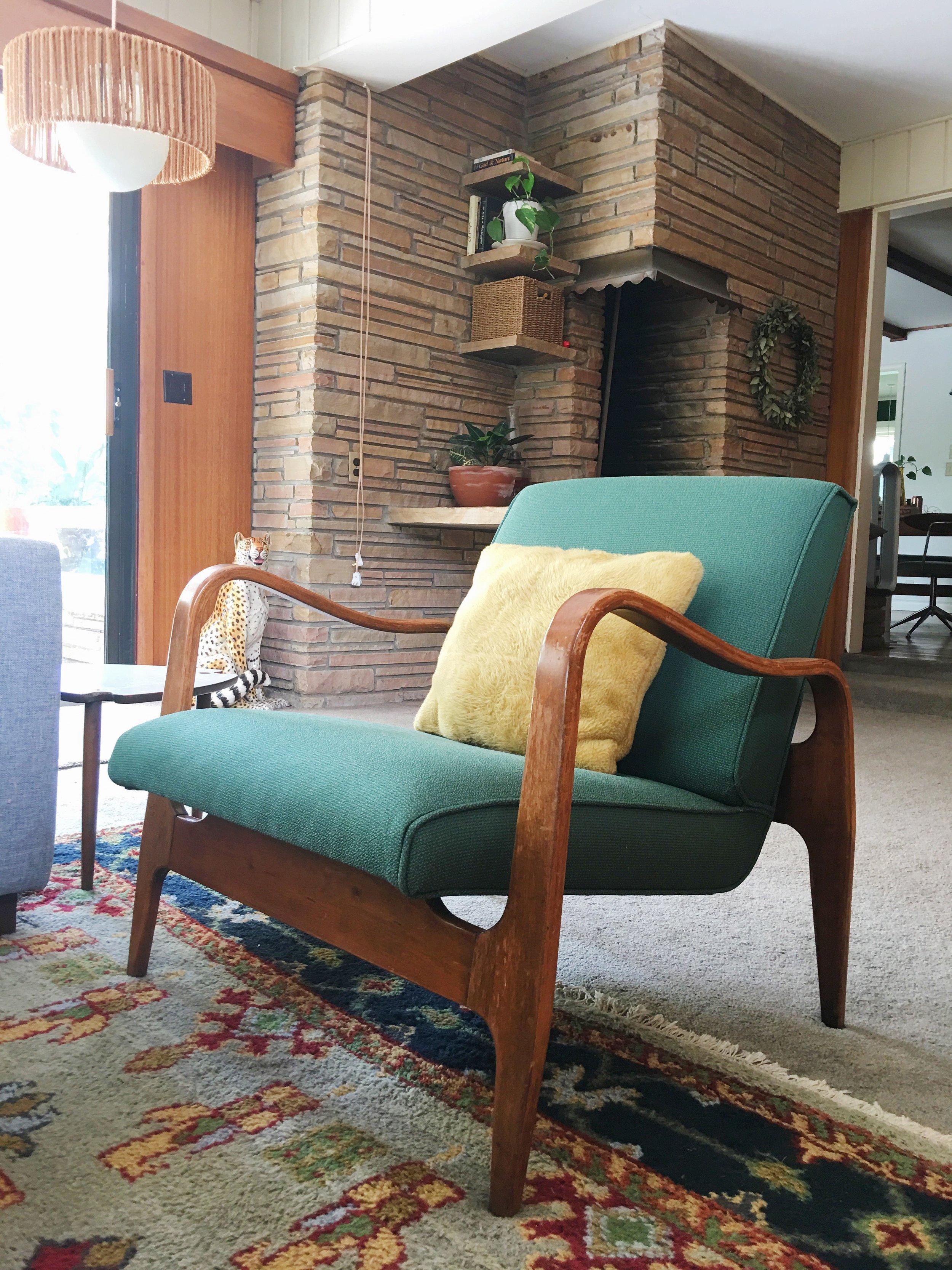 mid century modern sculptural bentwood lounge