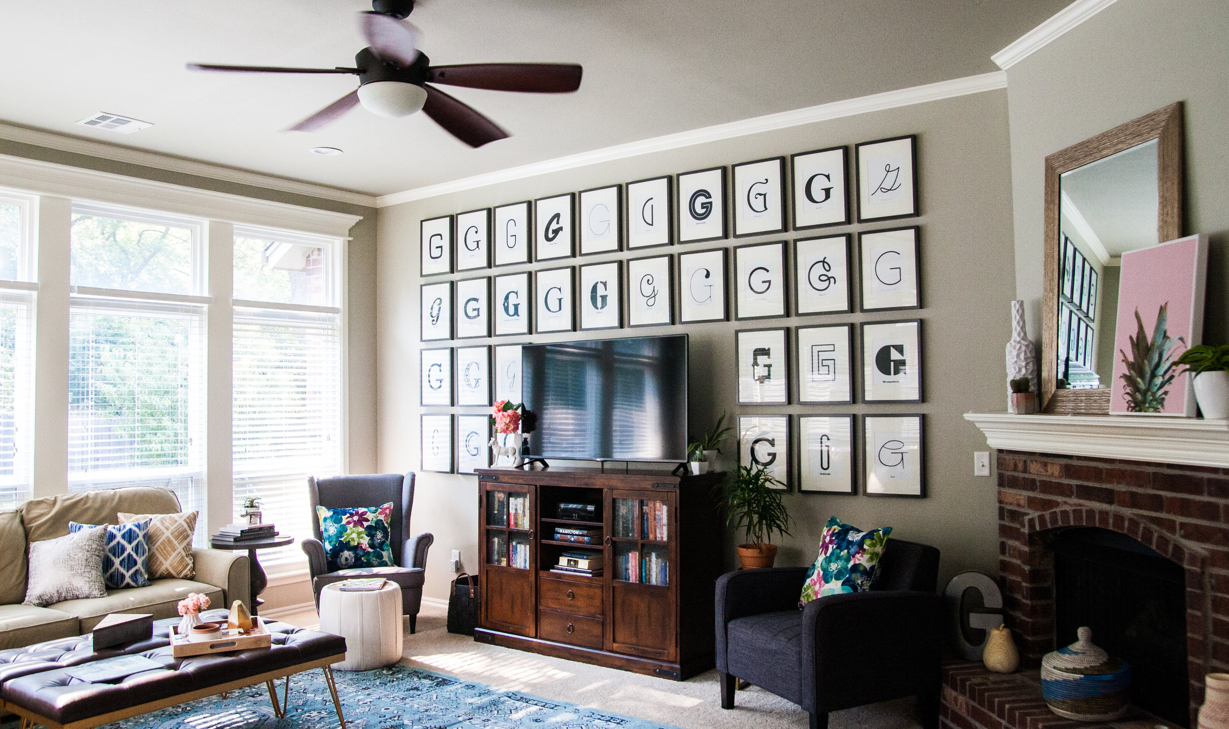 large g gallery wall