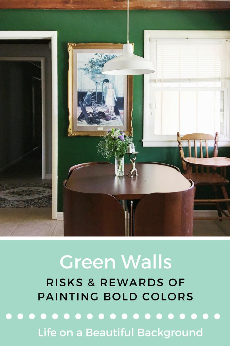 green walls + bold paint colors