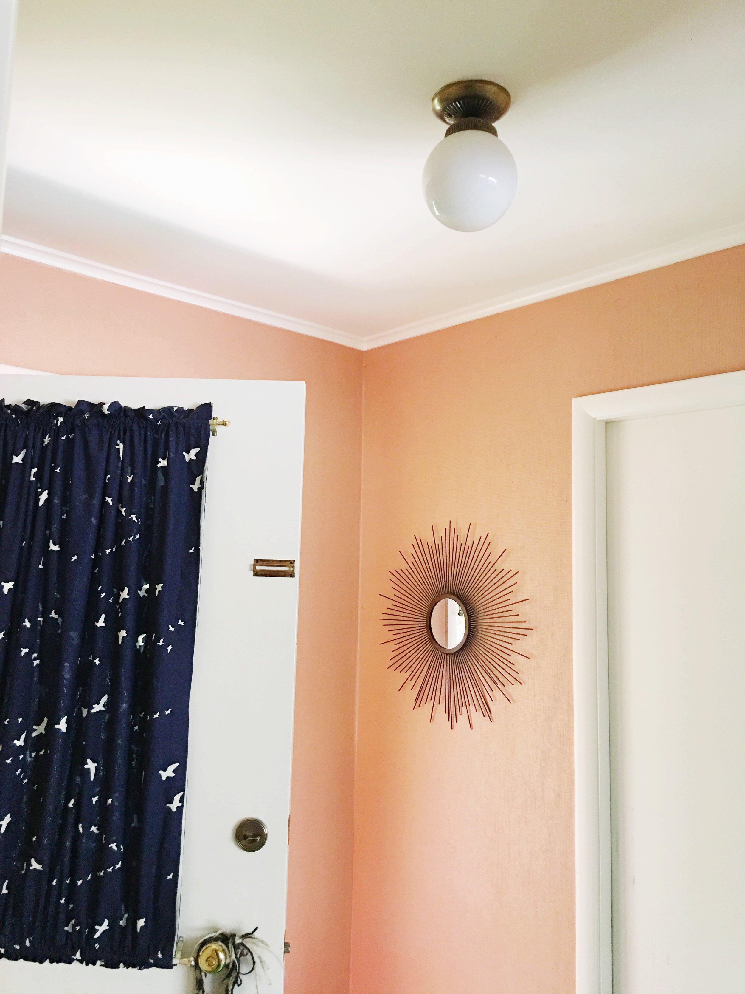 peach entry + sunburst