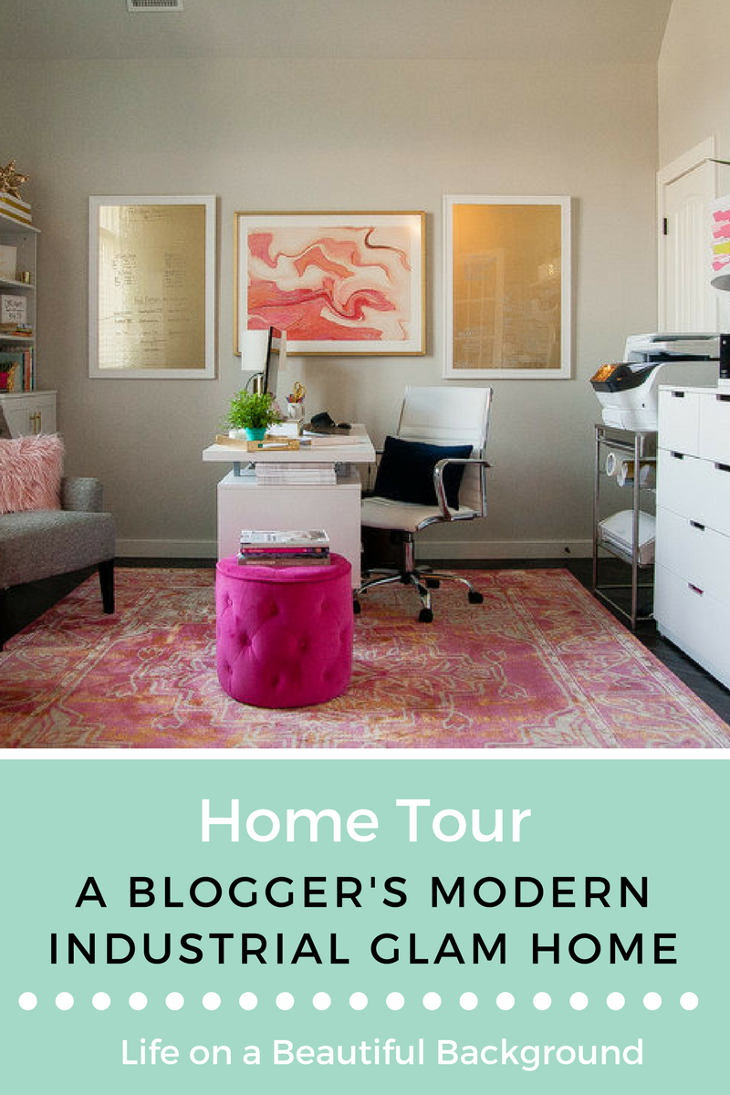 modern industrial glam home tour