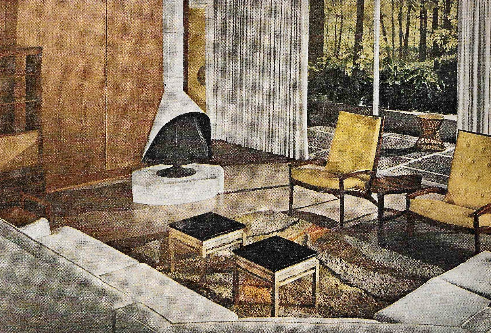 Gray Sectional Yellow Chairs