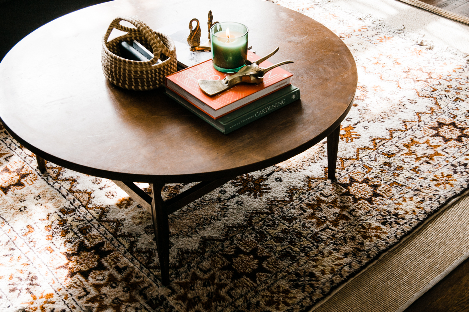 We spy layered vintage rugs and we love it!
