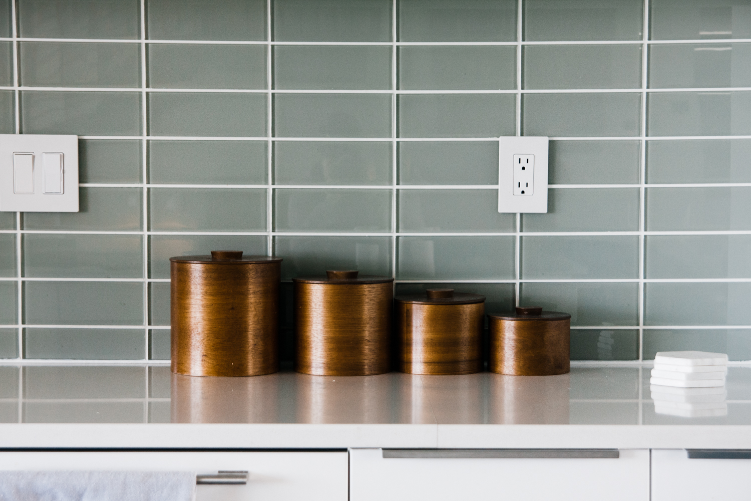 Daly has those same vintage canisters in her kitchen!