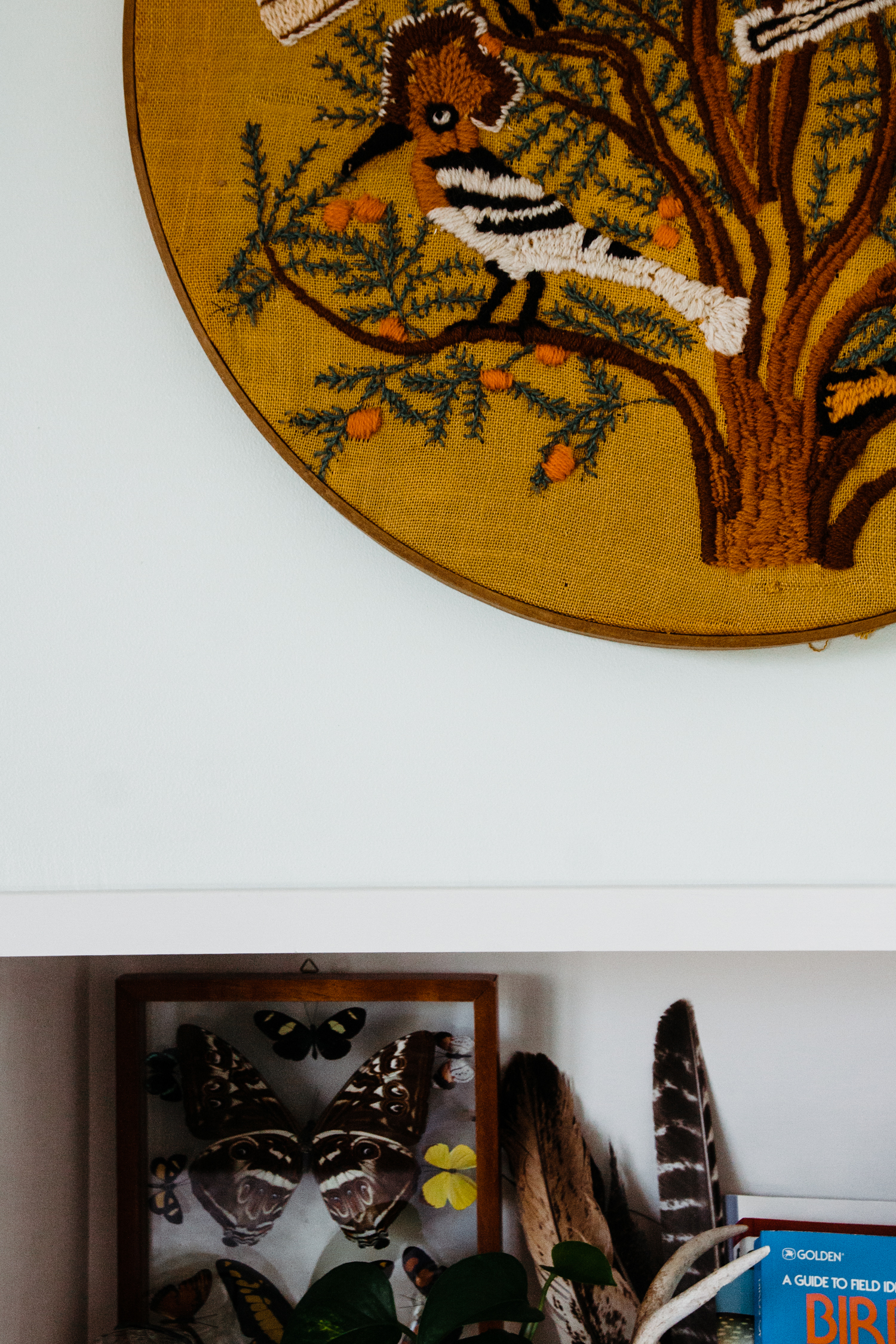 We love love love the thought and detail behind the artwork and found object vignettes throughout the home.