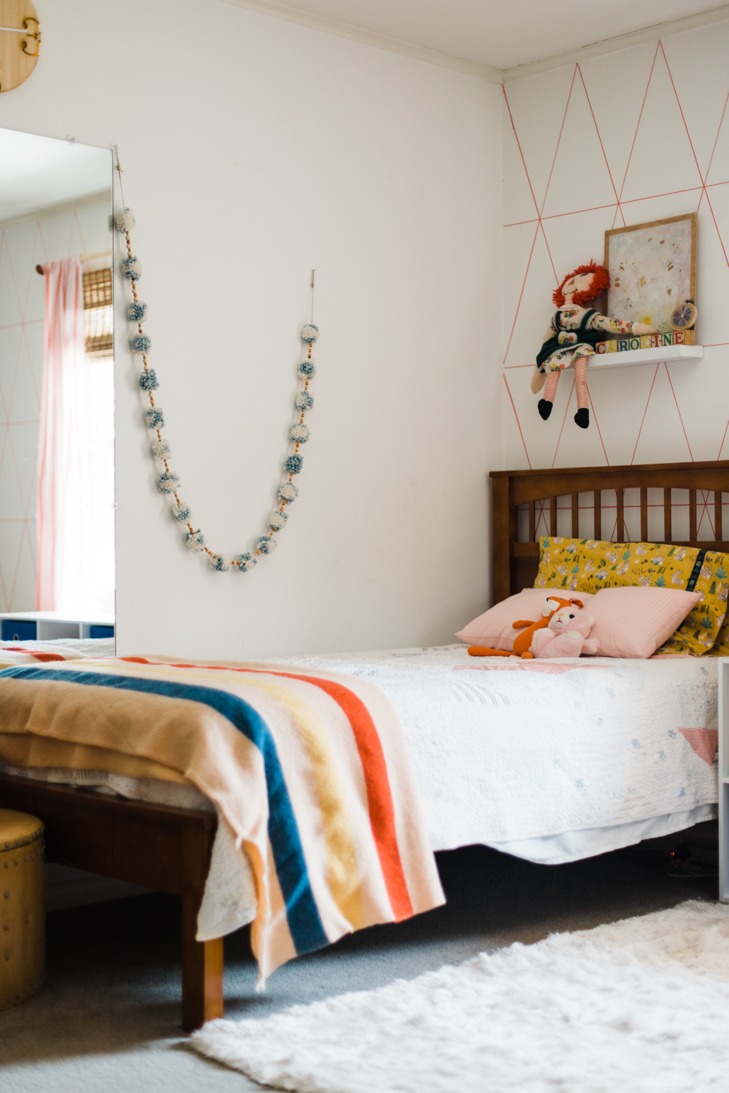 The vintage Hudson Bay blanket was the first purchase I made for Caroline's room back in 2014.