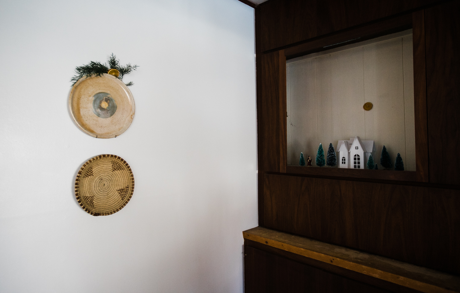 I've enjoyed creating tiny Christmas vignettes throughout my home again this year.
