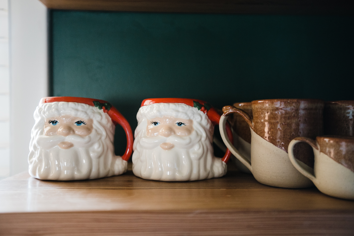 Who drinks out of a Santa head mug daily during the month of December? ME.