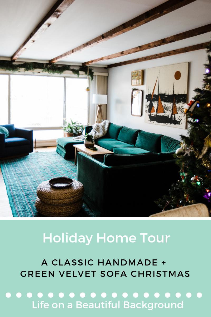 holiday home tour_ a classic handmade green velvet sofa christmas.png