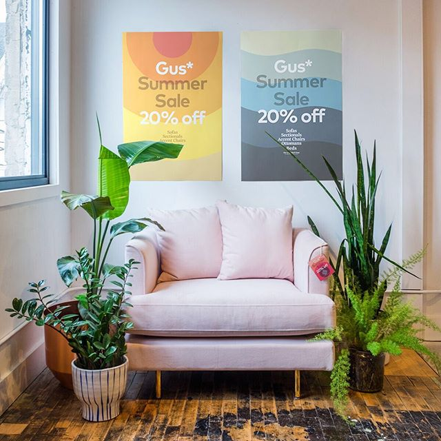 The @gusmodern summer sale starts today! 20% off all upholstered pieces!  #gusmodern #gussummersale #tulsa #tulsapeople #moderntulsa #tulsamodern #tulsamodernfurniture #shoptulsa #shoplocaltulsa #instatulsa