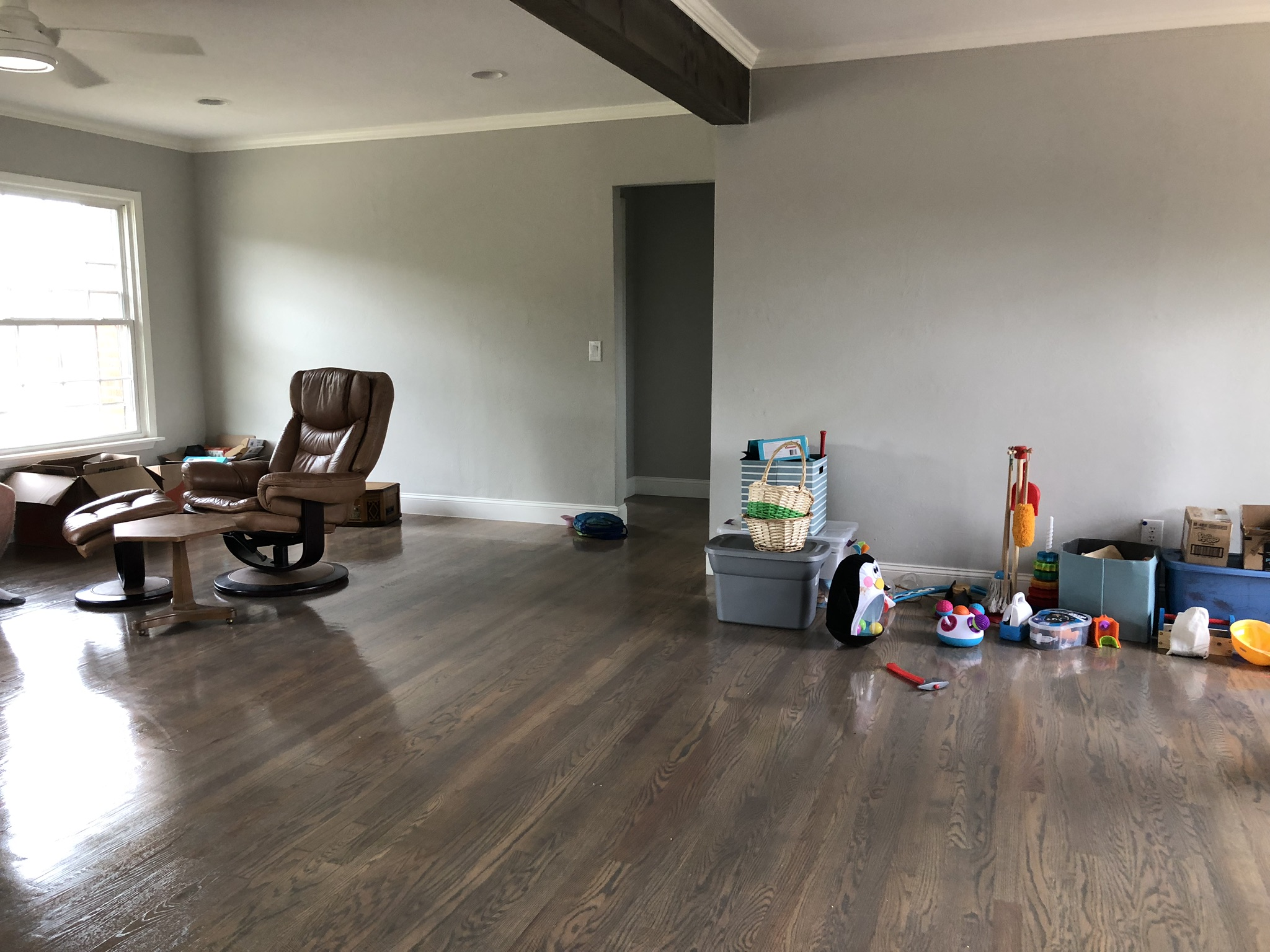Before: Upstairs living room.