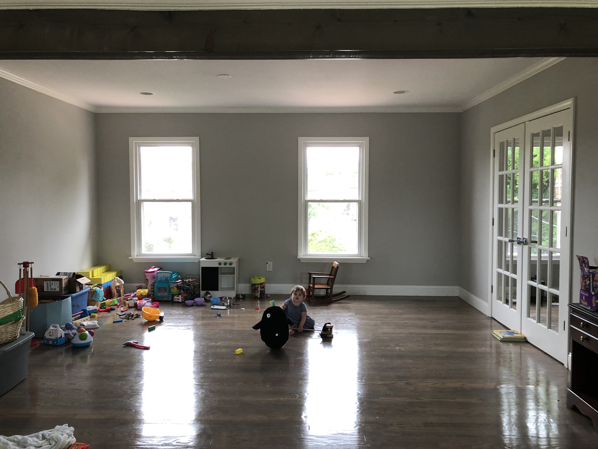 Before: Upstairs play area