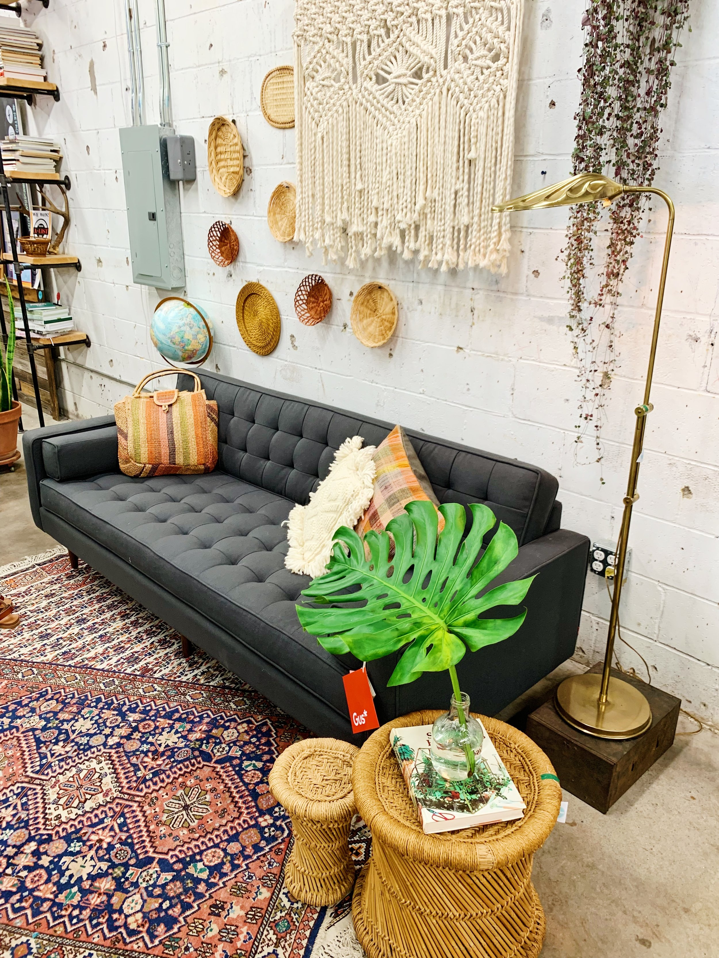 One Gus Sofa Three Ways Bohemian Moody Modern And Plant Lady