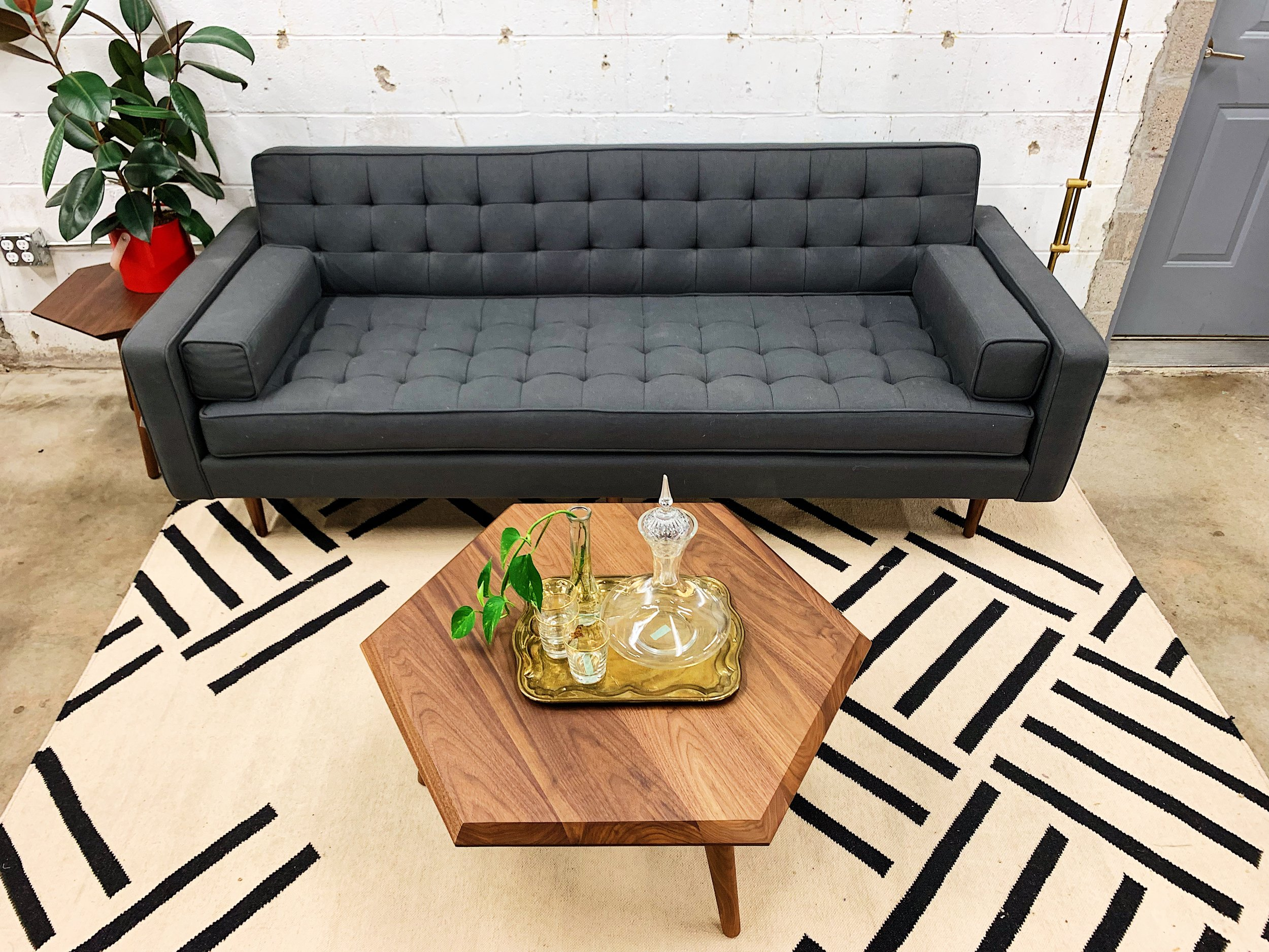 How To Style Couch Gus Modern Tulsa Oklahoma Living Room Furniture Decor
