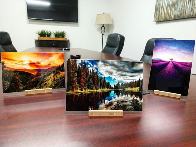 They're all just so pretty 😍  Which print is your favorite? Helping a client pick a print for their office and these are the final 3 🧡💙💜 #picturesarebetteronmetal #whatwillgoontheirwall #onceyougometal #prettypictures #thosecolorstho